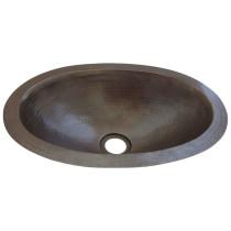 Novatto TCU-004AN QUITO PEQUENO Small Oval Undermount Copper Bath Sink