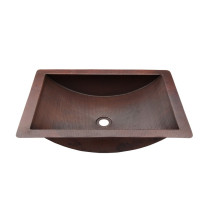 Novatto TCU-018AN MERIDA Hand Hammered Copper Bath Sink - Antique