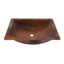 Novatto TCU-018NAORB MERIDA Bathroom Sink With Oil Rubbed Bronze Drain