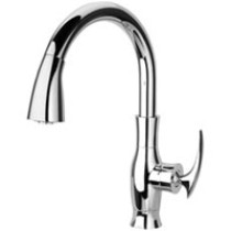 LaToscana FICR591 Single Hole Pull Down Kitchen Faucet