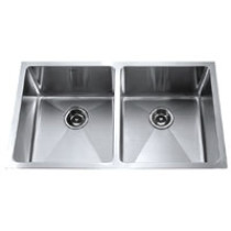 Kraus KHU-102-33 33'' Steel Double Bowl Undermount Sink