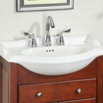 Empire S34W8 Savoy 34'' Ceramic White Bathroom Sink