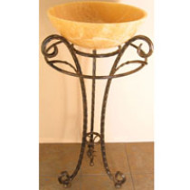 Quiescence ST-SNTMR Santa Maria Forged Iron Bathroom Sink Pedestal