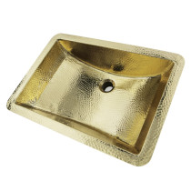 Nantucket Sinks TRB-1914-OF 21 Inch Hand Hammered Brass Undermount Sink