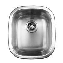 Ukinox UN345 Single Bowl Dual Mount Kitchen Sink Made of Stainless Steel