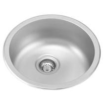 Ukinox UN446 Single Stainless Steel Kitchen Sink, Dual Mount Installation