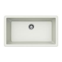 Houzer V-100 Quartztone Granite Drop In Large Single Bowl Kitchen Sink