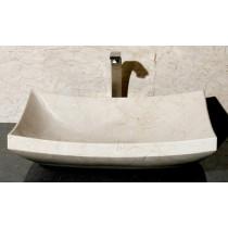Allstone V-VZ1816-CM Crema Marfil Marble Vessel Sink