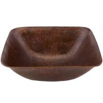 Premier Copper VSQ14BDB Square Vessel Hammered Copper Sink in Oil Rubbed Bronze
