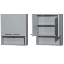 Wyndham WCRYV207DG Amare Bathroom Wall Mounted Storage Cabinet in Dove Gray