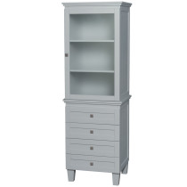 Wyndham WCV8000LTOY Acclaim Linen Tower in Oyster Gray with Shelved Cabinet Storage