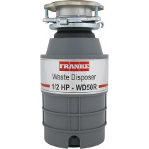 Franke WD50RC LB Waste Disposers 1/2 HP Continuous Feed with Cord in Gray