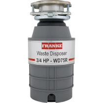 Franke WD75RC LB Waste Disposers 3/4 HP Continuous Feed with Cord in Gray