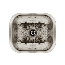 Whitehaus WH690ABB Undermount Prep sink with a Hammered Texture Surface