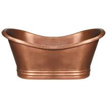 Whitehaus WHCT-1001 Freestanding Copper Tub In Hammered Copper