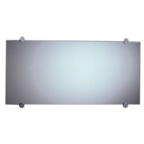 Whitehause WHE3CR-15 Frameless Mirror With Round Polished Stainless Steel Wall Mount Supports