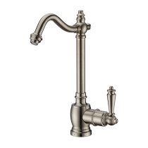 Whitehaus WHFH-C1006-BN Brushed Nickel Point of Use Cold Water Faucet with Traditional Spout