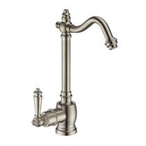 Whitehaus WHFH-H1006-BN Brushed Nickel Point of Use Instant Hot Water Faucet with Traditional Spout