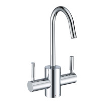 Whitehaus WHFH-HC1010-C Polished Chrome Instant Hot/Cold Water Faucet with Contemporary Spout