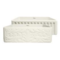 Whitehaus WHFLGO3018-BISCUIT Biscuit Gothichaus Series Fireclay Sink