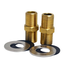 """Whitehaus WHFS00098-10 2"""" Brass Nipple for Utility Faucet Installation"""