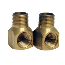 Whitehaus WHFS00098-20 Brass Elbow for Utility Faucet Installation