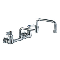 Whitehaus WHFS9814-008DJ-C Wall Mount Utility Faucet with Lever Handles
