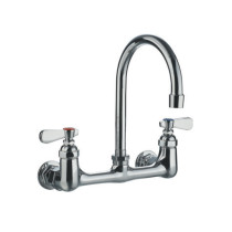 Whitehaus WHFS9814-P4-C Heavy Duty Utility Faucet with a Gooseneck Spout