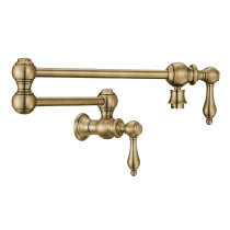 Whitehaus WHKPFLV3-9550-NT-AB Vintage III Plus Pot Filler In Antique Brass