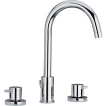 Whitehaus WHLX78214 Widespread 3 Holes Deck Mount Lavatory Bathroom Faucet