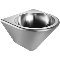 Whitehaus WHNCB1515 Stainless Steel Noah'S Collection Single Bowl Wall Mount Basin