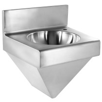 Whitehaus WHNCB1815 Stainless Steel Noah'S Commerical Wall Mounted Commerical Wash Basin