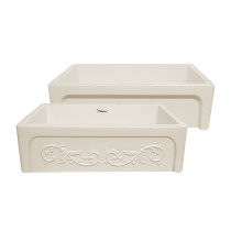 """Whitehaus WHSIV3333-BISCUIT Glencove St. Ives 33"""" Front Apron Fireclay Sink"""