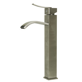 ALFI brand AB1158 Single Lever Tall Square Bathroom Faucet Polished/Brushed