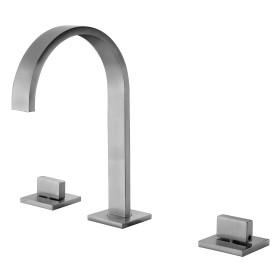 ALFI brand AB1336 Gooseneck Widespread Bathroom Faucet
