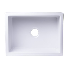ALFI brand AB2418UM 24x18 Undermount Fireclay Sink In White Or Biscuit