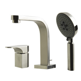 ALFI brand AB2703 Single Lever Faucet Round Hand Held Pull-Out Shower Head