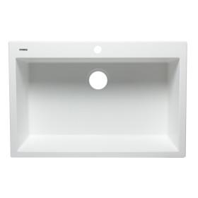 """ALFI brand AB3322DI 33"""" Single Bowl Drop In Granite Composite Kitchen Sink"""