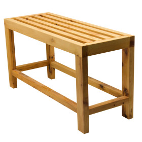 ALFI brand AB4401 26'' Cedar Wood Bench for your Wooden Tub