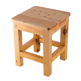 "ALFI brand AB4407 10""x10"" Square Wooden Bench/Stool Multi-Purpose Accessory"