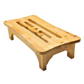 ALFI brand AB4408 24'' Cedar Wood Stool for your Wooden Tub