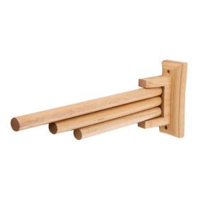ALFI brand AB5506 16 Inch Triple Rack Wooden Towel Bar