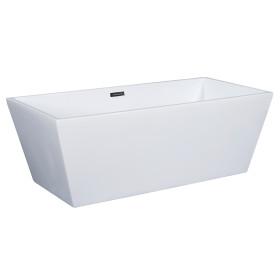 ALFI brand AB8832 67 Inch White Rectangular Acrylic Free Standing Bathtub