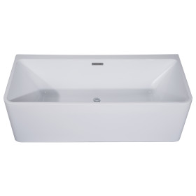 ALFI brand AB8858 59 Inch White Rectangular Acrylic Free Standing Bathtub