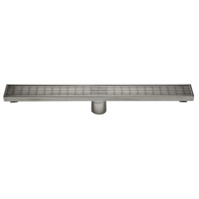 """ALFI brand ABLD24D 24"""" Stainless Steel Linear Shower Drain w/ Groove Lines"""
