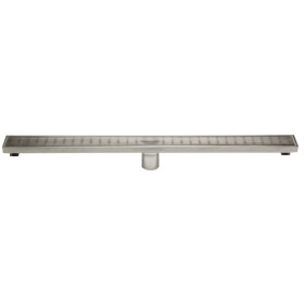 """ALFI brand ABLD32D 32"""" Stainless Steel Linear Shower Drain w/ Groove Lines"""