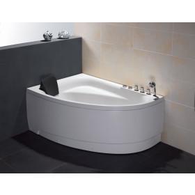 """EAGO AM161-R 59"""" Single Person Corner White Acrylic Whirlpool BathTub"""