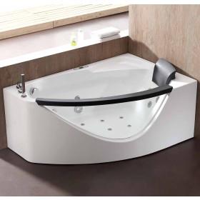 EAGO AM198ETL-L 5 ft Clear Rounded Left Corner Acrylic Whirlpool Bathtub