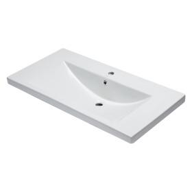 "EAGO BH002 White Ceramic 40""x19"" Rectangular Drop In Sink"