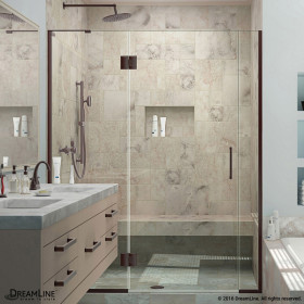 DreamLine D3230672L Unidoor-X 53 - 53 1/2 in. W x 72 in. H Hinged Shower Door